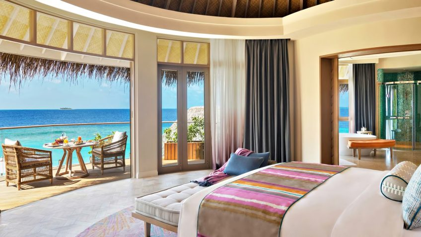 The Nautilus Maldives Luxury Resort - Thiladhoo Island, Maldives - Oceanfront Mansion Bedroom