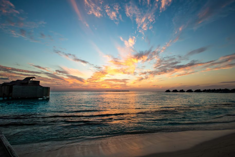 Six Senses Laamu Luxury Resort - Laamu Atoll, Maldives - Resort Sunset View