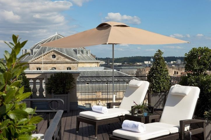 InterContinental Bordeaux Le Grand Hotel - Bordeaux, France - Rooftop Relaxation