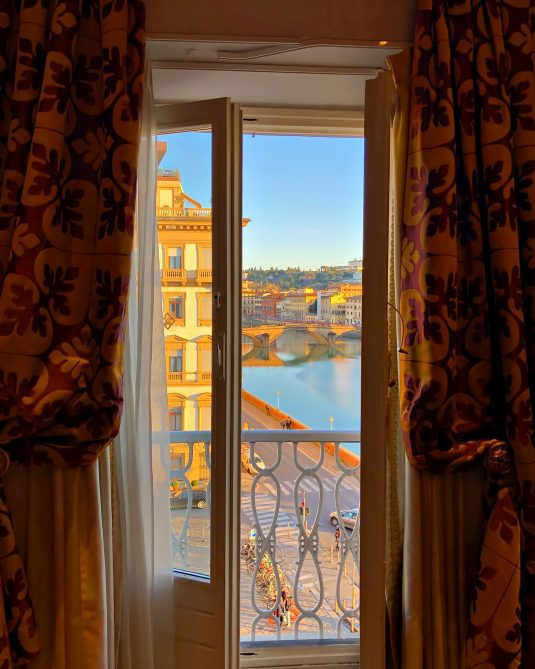 The St. Regis Florence Luxury Hotel - Florence, Italy - Arno River View at Dusk