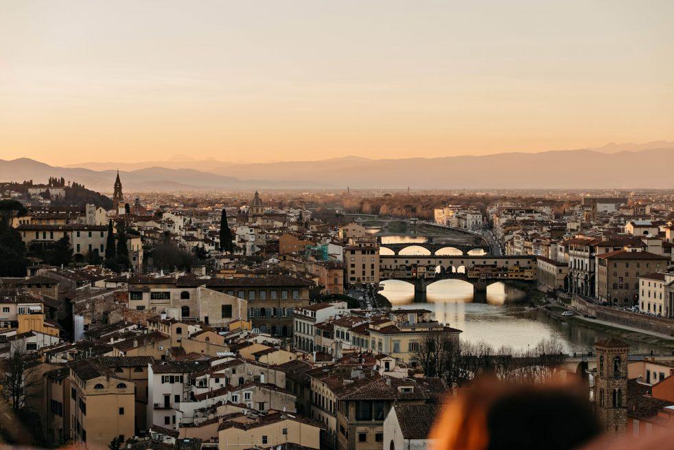 The St. Regis Florence Luxury Hotel - Florence, Italy - Ponte Vecchio at Dusk