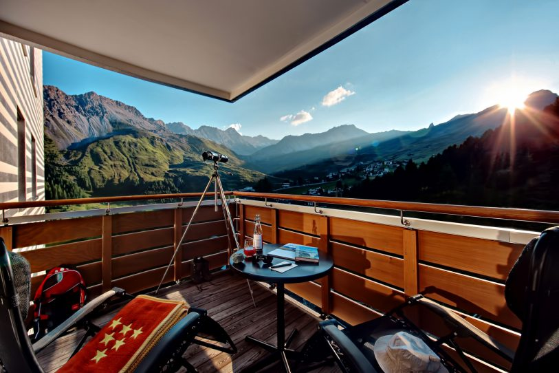 Tschuggen Grand Luxury Hotel - Arosa, Switzerland - Balcony Mountain View