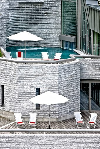 Tschuggen Grand Luxury Hotel - Arosa, Switzerland - Outdoor Pool Deck