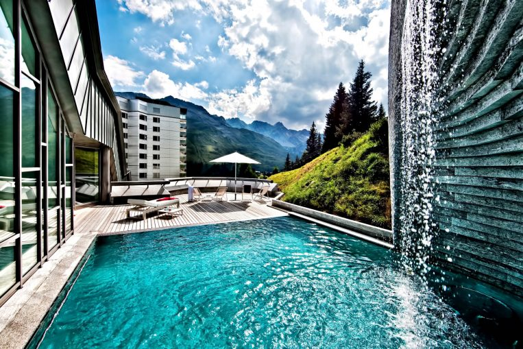 Tschuggen Grand Luxury Hotel - Arosa, Switzerland - Outdoor Relaxation Pool