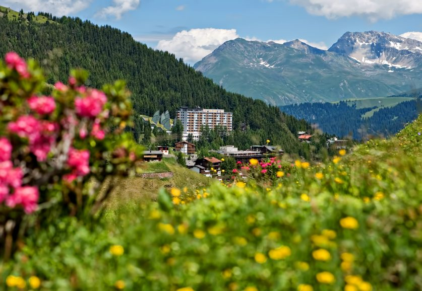Tschuggen Grand Luxury Hotel - Arosa, Switzerland - Summer View