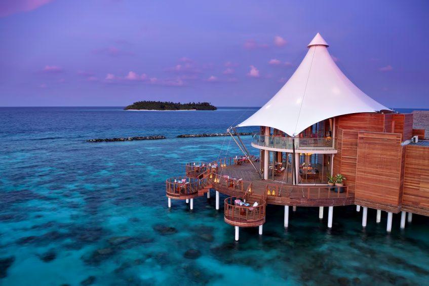The Nautilus Maldives Luxury Resort - Thiladhoo Island, Maldives - Zeytoun Restaurant Dusk