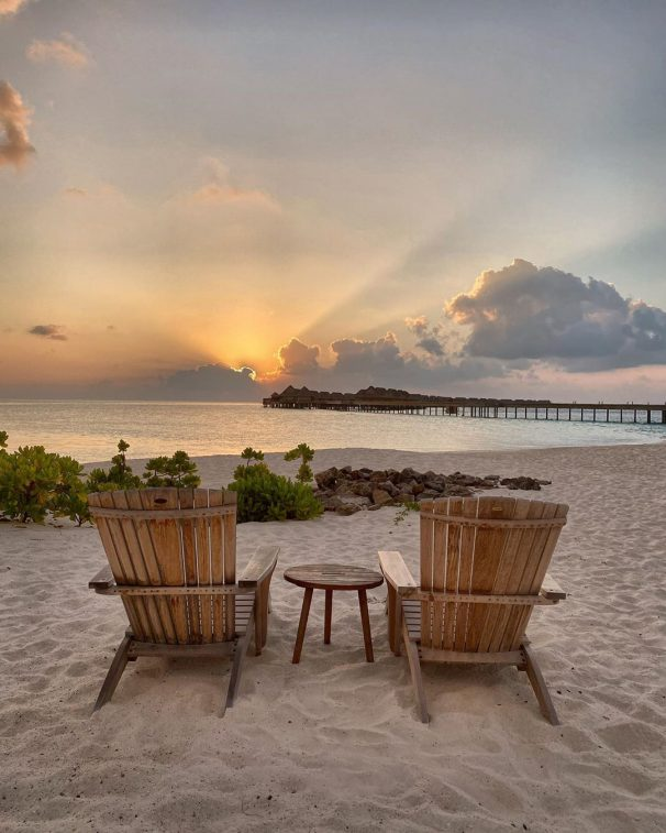 Joali Maldives Luxury Resort - Muravandhoo Island, Maldives - Beach Chair Sunset