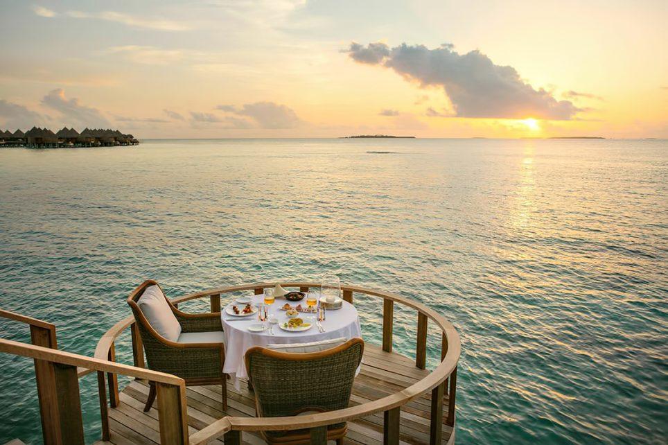The Nautilus Maldives Luxury Resort - Thiladhoo Island, Maldives - Overwater Sunset Dining