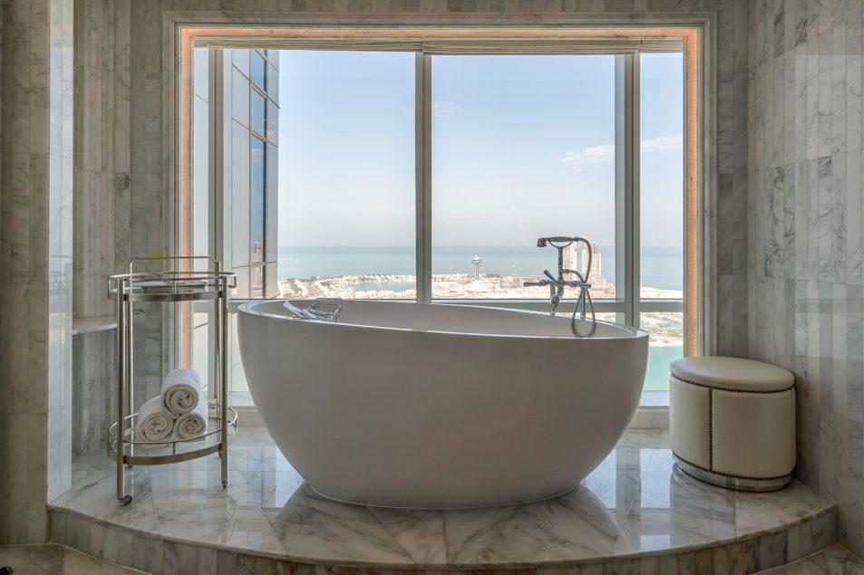 The St. Regis Abu Dhabi Luxury Hotel - Abu Dhabi, United Arab Emirates - Bathtub Ocean View