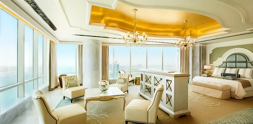The St. Regis Abu Dhabi Luxury Hotel - Abu Dhabi, United Arab Emirates - Al Manhal Suite Bedroom