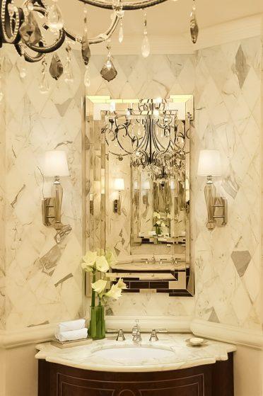 The St. Regis Abu Dhabi Luxury Hotel - Abu Dhabi, United Arab Emirates - Luxury Ladies Restroom Decor