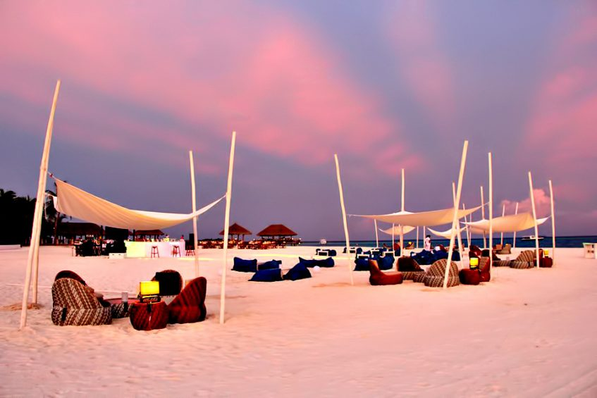 Velassaru Maldives Luxury Resort - South Male Atoll, Maldives - Beach Sunset Sand Chairs