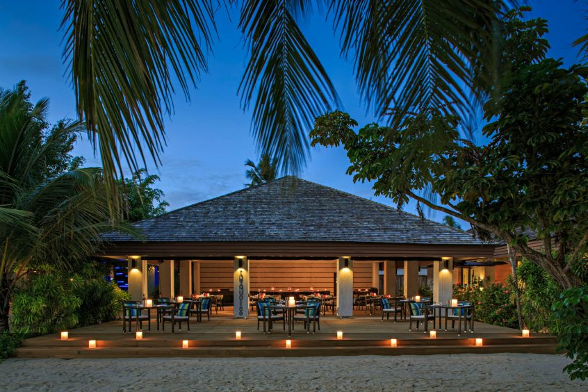 Velassaru Maldives Luxury Resort - South Male Atoll, Maldives - Restaurant Sunset