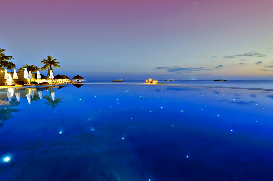 Velassaru Maldives Luxury Resort - South Male Atoll, Maldives - Night Infinity Pool