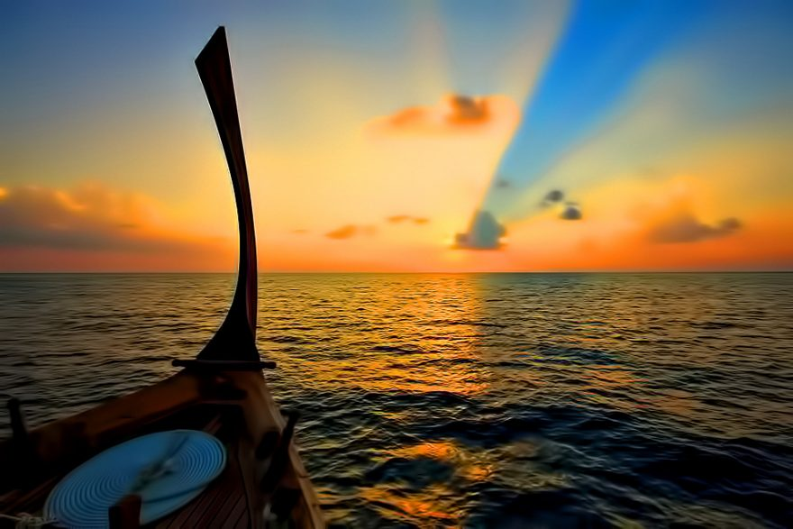 Velassaru Maldives Luxury Resort - South Male Atoll, Maldives - Boat Sunset