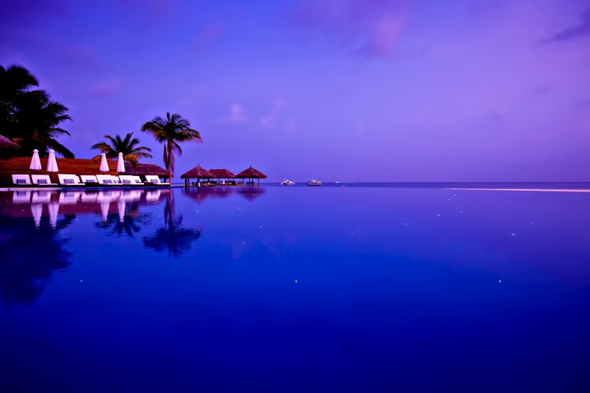 Velassaru Maldives Luxury Resort - South Male Atoll, Maldives - Pool Sunset