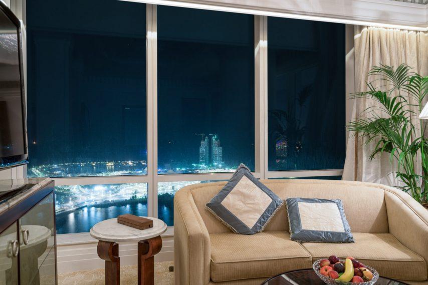 The St. Regis Abu Dhabi Luxury Hotel - Abu Dhabi, United Arab Emirates - Grand Deluxe Suite Night View