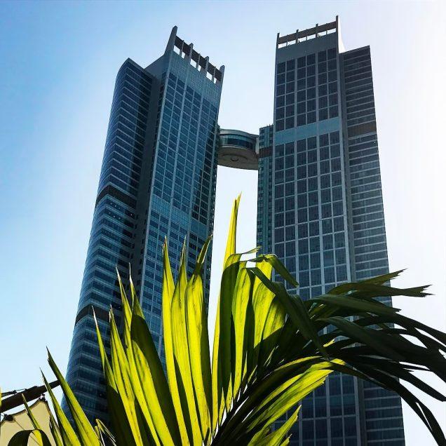 The St. Regis Abu Dhabi Luxury Hotel - Abu Dhabi, United Arab Emirates - Daytime Twin Tower View