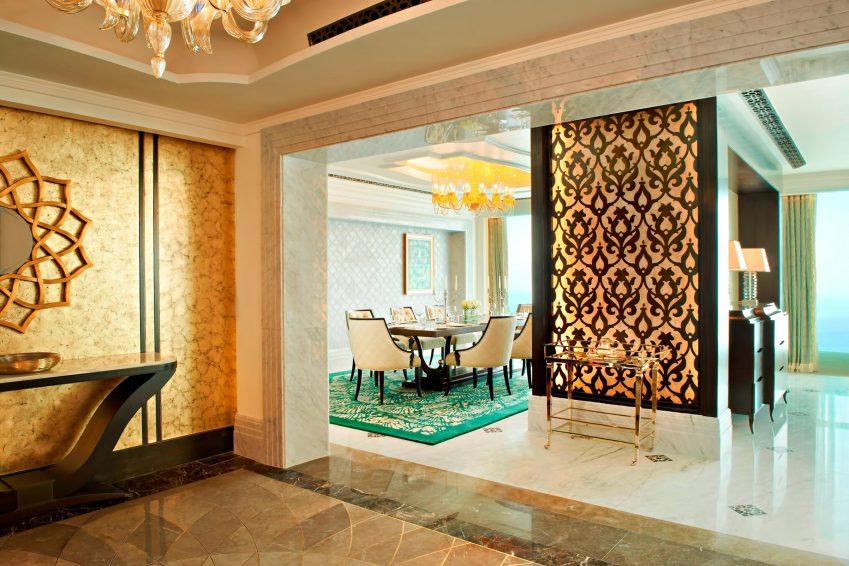 The St. Regis Abu Dhabi Luxury Hotel - Abu Dhabi, United Arab Emirates - Ultra Luxury Abu Dhabi Suite Entrance Hall