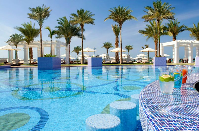 The St. Regis Abu Dhabi Luxury Hotel - Abu Dhabi, United Arab Emirates - Swim Up Pool Bar