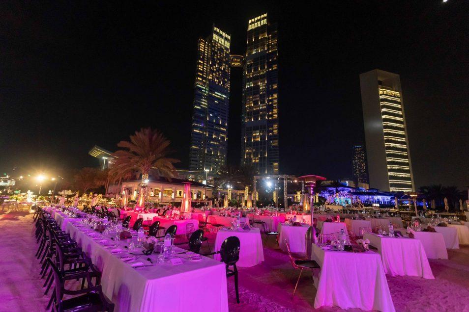 The St. Regis Abu Dhabi Luxury Hotel - Abu Dhabi, United Arab Emirates - Night Beach Banquet