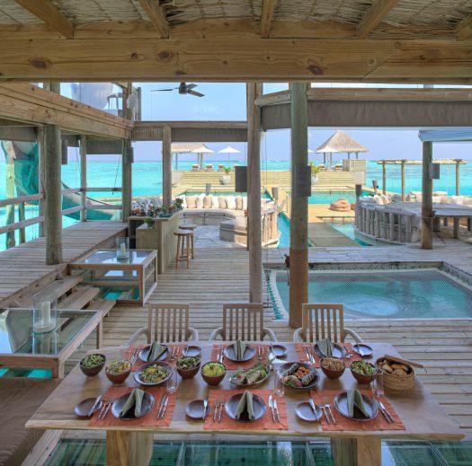 Gili Lankanfushi Luxury Resort - North Male Atoll, Maldives - The Private Reserve Living Dining Area