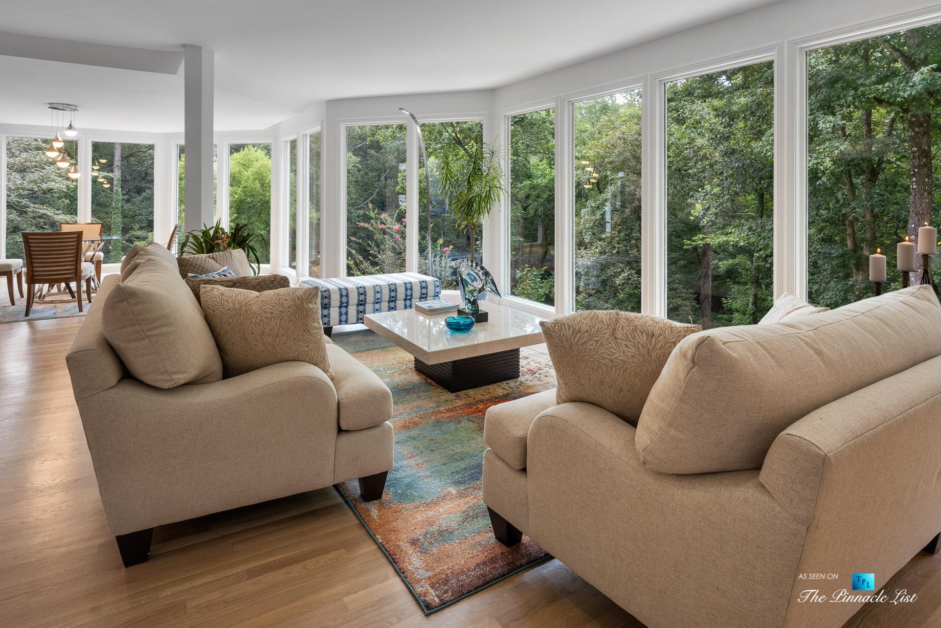 3906 Paces Ferry Rd NW, Atlanta, GA, USA – Living Room Window View – Luxury Real Estate – Buckhead Home
