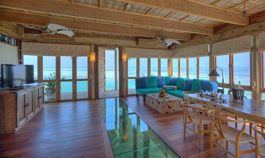 Gili Lankanfushi Luxury Resort - North Male Atoll, Maldives - The Private Reserve Entrance Living Room