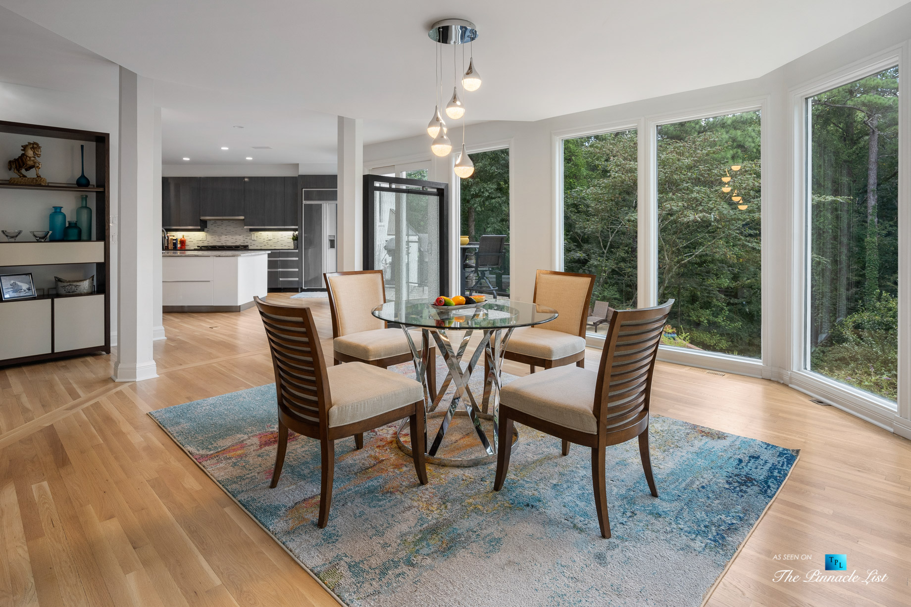 3906 Paces Ferry Rd NW, Atlanta, GA, USA - Kitchen Table Window View - Luxury Real Estate - Buckhead Home