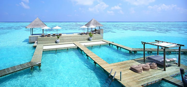 Gili Lankanfushi Luxury Resort - North Male Atoll, Maldives - The Private Reserve Infinity Pool and Day Bed