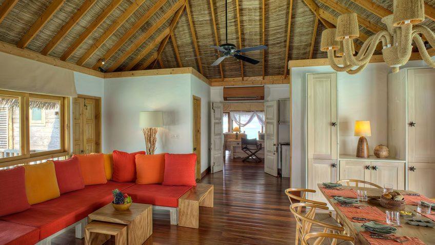 Gili Lankanfushi Luxury Resort - North Male Atoll, Maldives - Family Villa Living Dining Area