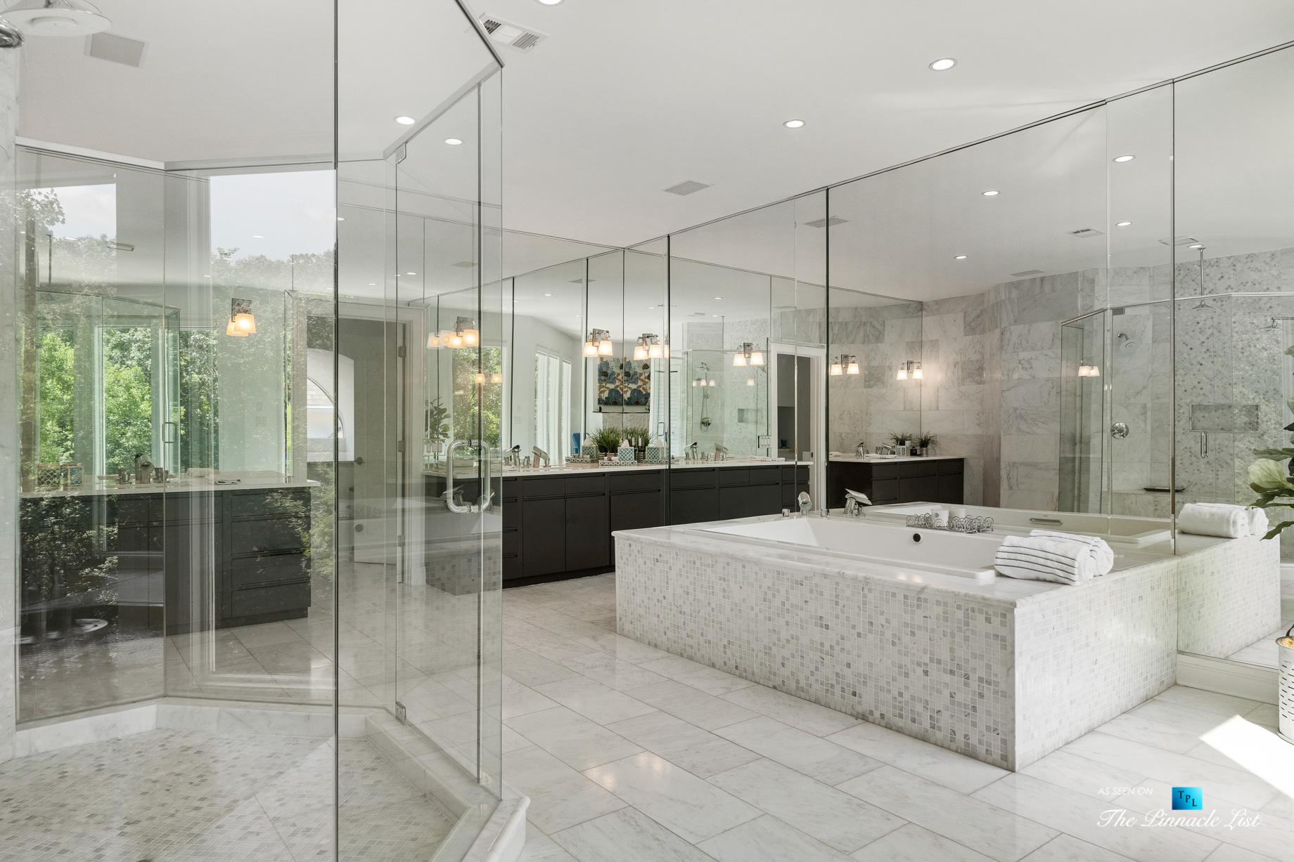 3906 Paces Ferry Rd NW, Atlanta, GA, USA – Master Bathroom Glass Wall Shower – Luxury Real Estate – Buckhead Home