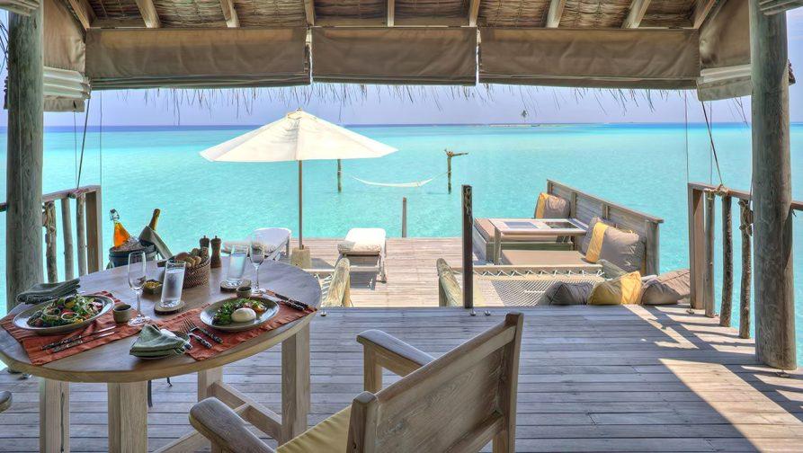 Gili Lankanfushi Luxury Resort - North Male Atoll, Maldives - Overwater Lagoon Villa Living Dining Area