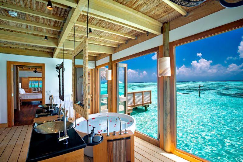 Gili Lankanfushi Luxury Resort - North Male Atoll, Maldives - Overwater Lagoon Villa Master Bathroom