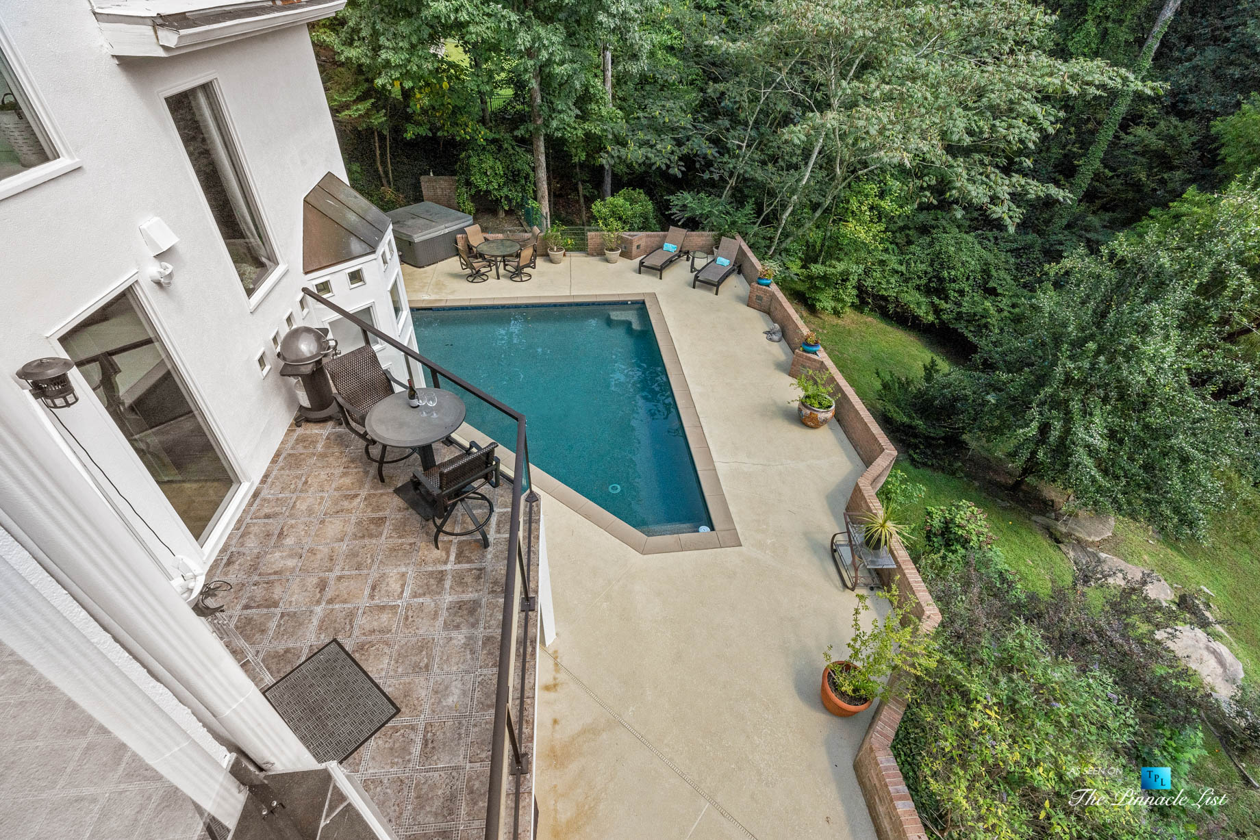 3906 Paces Ferry Rd NW, Atlanta, GA, USA – Master Bedroom Private Deck Overlooking Pool – Luxury Real Estate – Buckhead Home