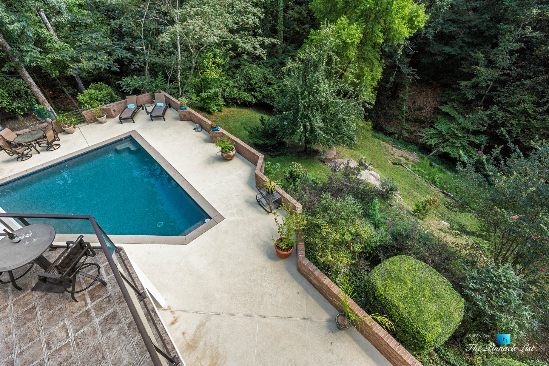 3906 Paces Ferry Rd NW, Atlanta, GA, USA - Master Bedroom Private Deck Overlooking Pool - Luxury Real Estate - Buckhead Home