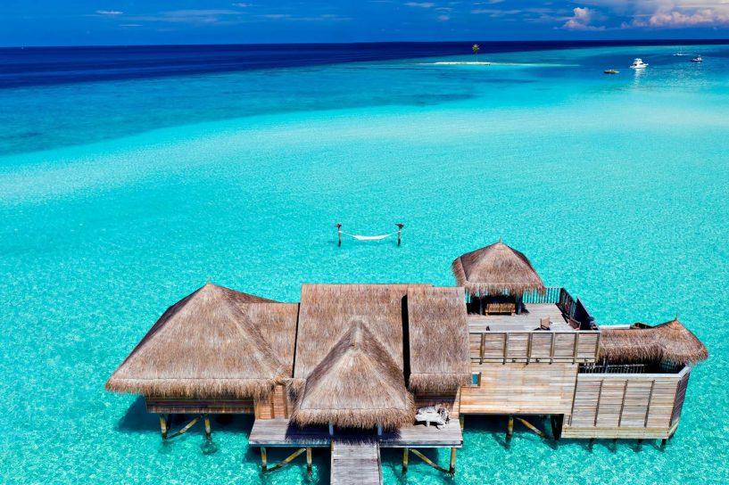 Gili Lankanfushi Luxury Resort - North Male Atoll, Maldives - Overwater Lagoon Villa Aerial View