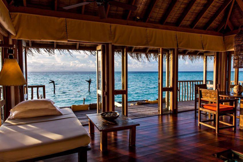 Gili Lankanfushi Luxury Resort - North Male Atoll, Maldives - Overwater Villa Living Dining Area Ocean View