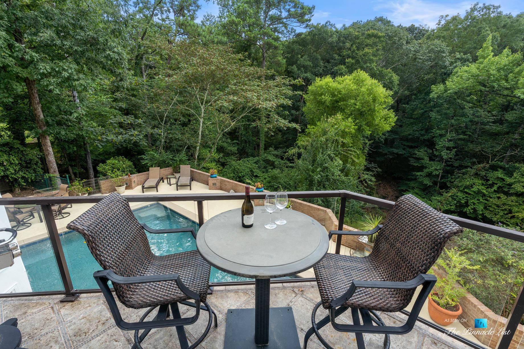 3906 Paces Ferry Rd NW, Atlanta, GA, USA – Balcony Overlooking Backyard Pool Deck – Luxury Real Estate – Buckhead Home