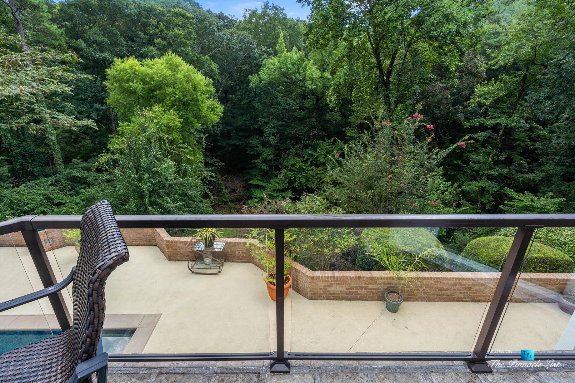 3906 Paces Ferry Rd NW, Atlanta, GA, USA - Balcony Overlooking Backyard Pool Deck - Luxury Real Estate - Buckhead Home