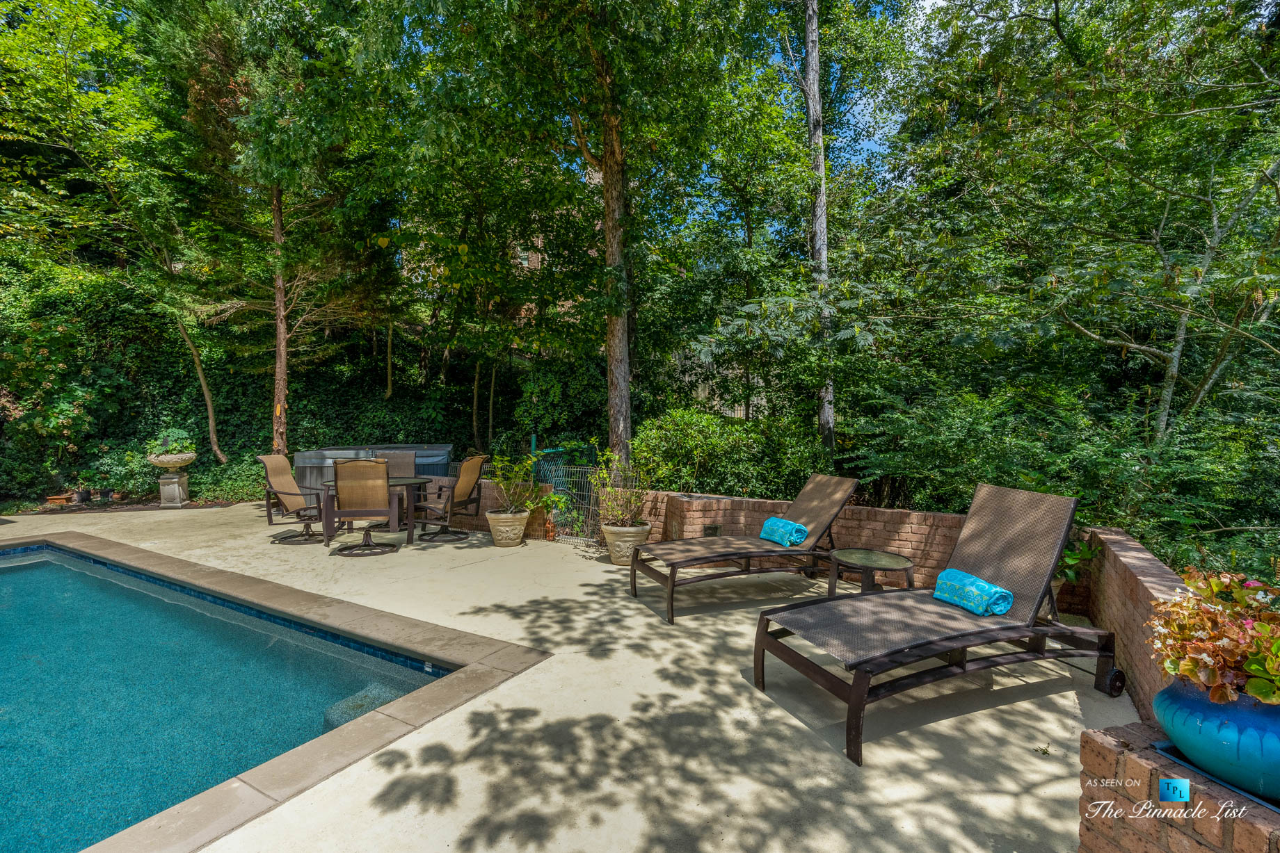 3906 Paces Ferry Rd NW, Atlanta, GA, USA – Backyard Pool Deck – Luxury Real Estate – Buckhead Home