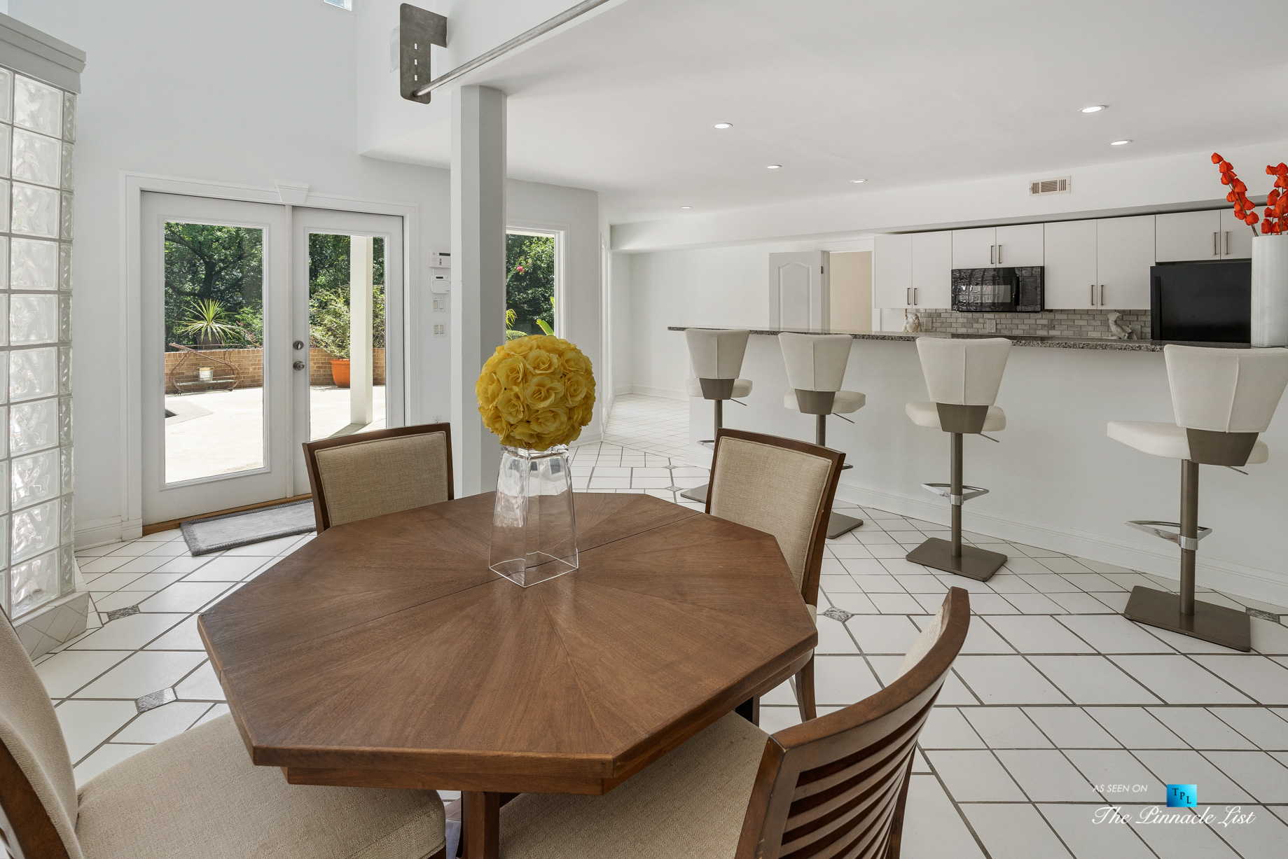 3906 Paces Ferry Rd NW, Atlanta, GA, USA - Basement Recreation Room and Summer Kitchen - Luxury Real Estate - Buckhead Home