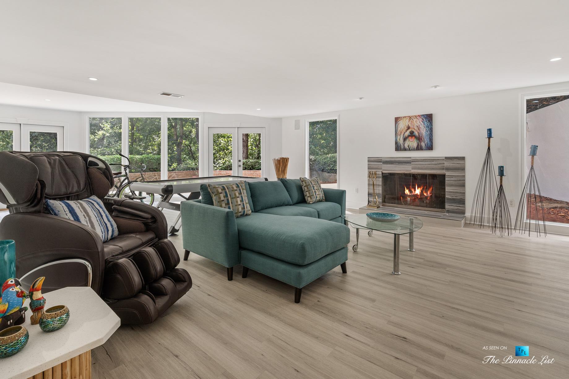 3906 Paces Ferry Rd NW, Atlanta, GA, USA - Basement Recreation Room - Luxury Real Estate - Buckhead Home