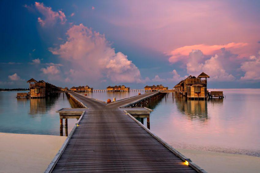 Gili Lankanfushi Luxury Resort - North Male Atoll, Maldives - Resort Jetty Boardwalk Sunset