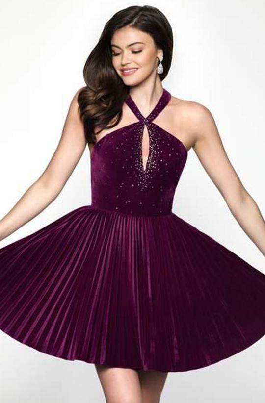 Velvet Sweet 16 Dresses in Purple