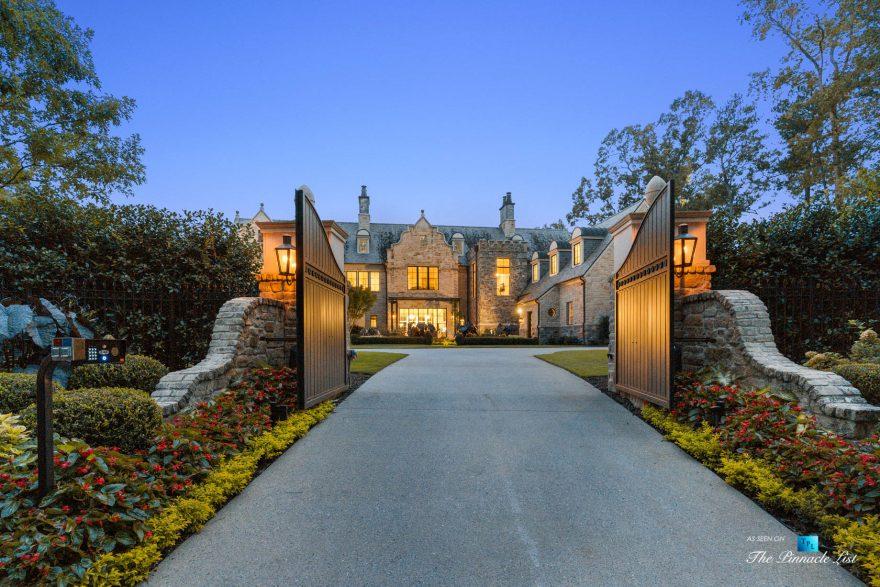 1150 W Garmon Rd, Atlanta, GA, USA - Front Gates - Luxury Real Estate - Buckhead Estate Home