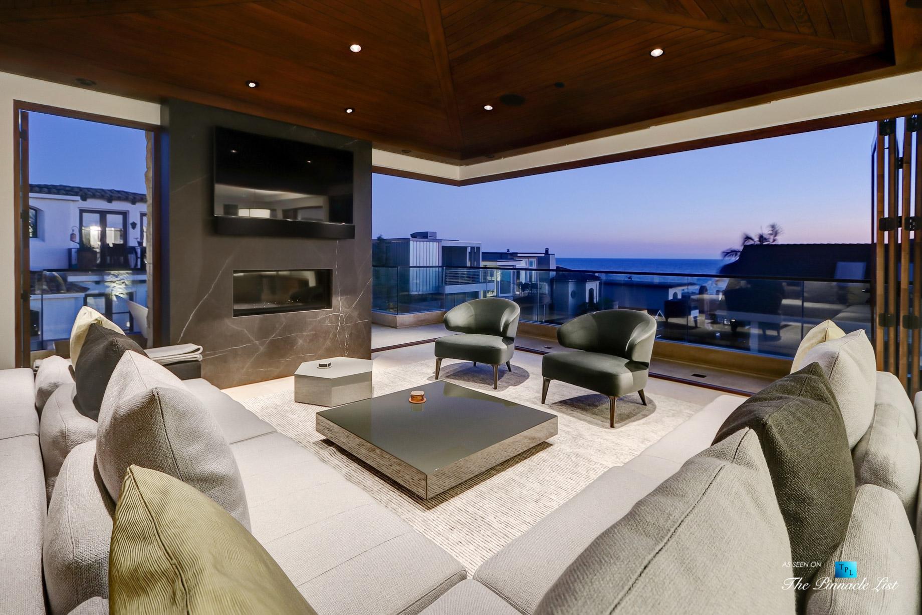 205 20th Street, Manhattan Beach, CA, USA – Night Living Room – Luxury Real Estate – Ocean View Home