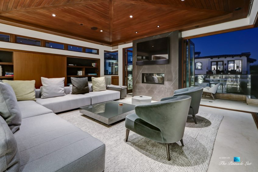 205 20th Street, Manhattan Beach, CA, USA - Night Living Room - Luxury Real Estate - Ocean View Home