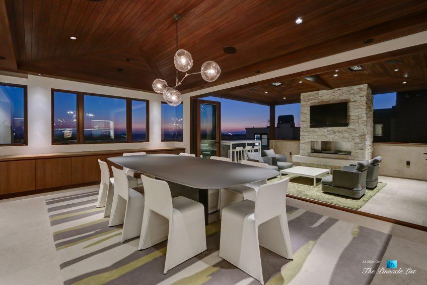 205 20th Street, Manhattan Beach, CA, USA - Night Dining Room - Luxury Real Estate - Ocean View Home
