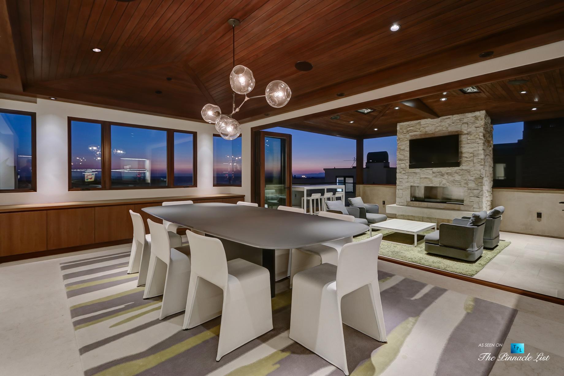 205 20th Street, Manhattan Beach, CA, USA – Night Dining Room – Luxury Real Estate – Ocean View Home